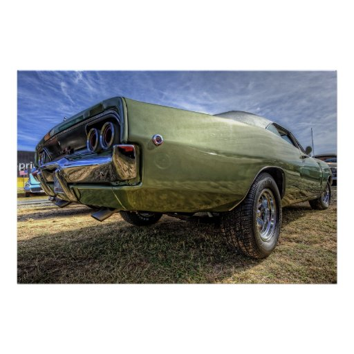1968 Dodge Charger in HDR Posters