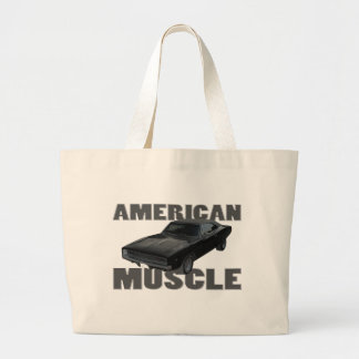 1968 dodge charger r/t american muscle large tote bag