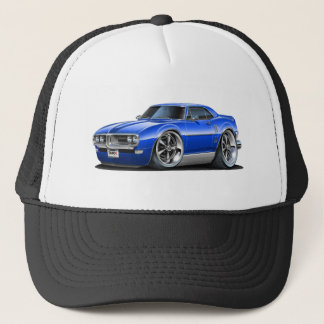1968 Firebird Blue Car Trucker Hat