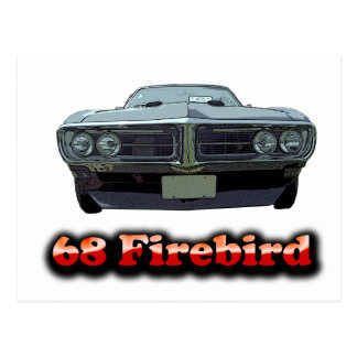 1968 Firebird Postcard