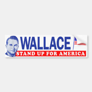 "1968 George Wallace ""Stand Up For America"" Bumper Bumper Sticker"