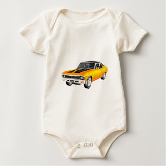 1968 Gold Muscle Car Baby Bodysuit