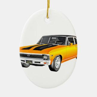 1968 Gold Muscle Car Ceramic Ornament