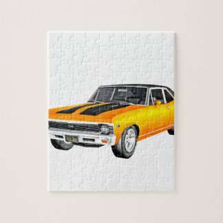 1968 Gold Muscle Car Jigsaw Puzzle