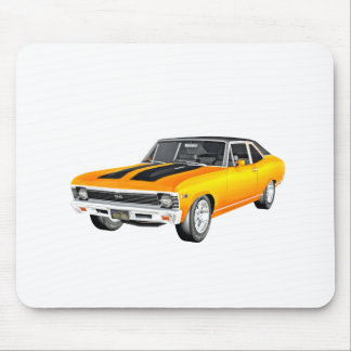 1968 Gold Muscle Car Mouse Pad