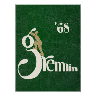 1968 Graydon Gremlin Yearbook Poster
