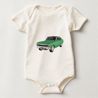 1968 Green Muscle Car Baby Bodysuit