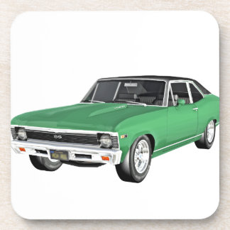 1968 Green Muscle Car Coasters