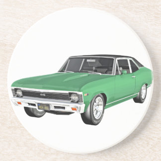 1968 Green Muscle Car Drink Coaster