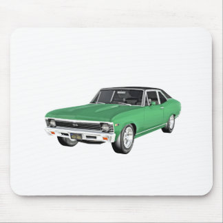 1968 Green Muscle Car Mouse Pad
