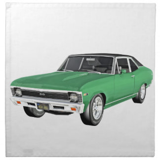1968 Green Muscle Car Napkin