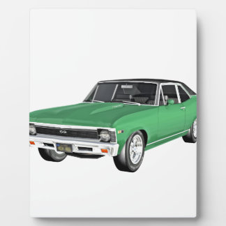 1968 Green Muscle Car Plaque