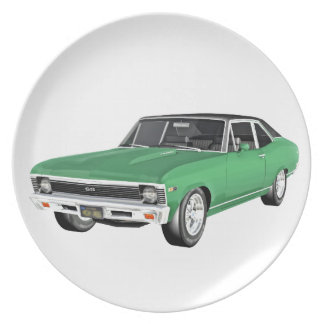 1968 Green Muscle Car Plate