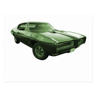 1968 GTO Muscle Car Postcard