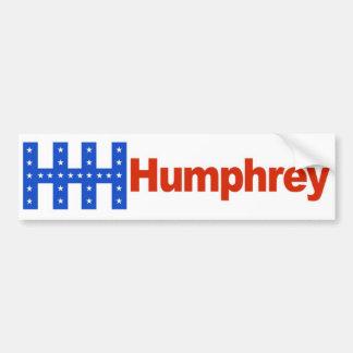 1968 Hubert Humphrey HHH Vintage Bumper Sticker