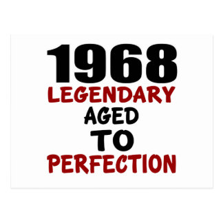 1968 LEGENDARY AGED TO PERFECTION POSTCARD