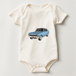 1968 Light Blue Muscle Cars Baby Bodysuit