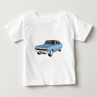 1968 Light Blue Muscle Cars Baby T-Shirt