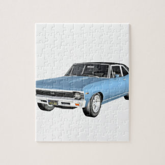 1968 Light Blue Muscle Cars Jigsaw Puzzle