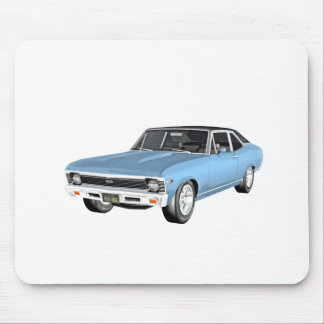 1968 Light Blue Muscle Cars Mouse Pad