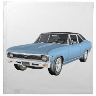 1968 Light Blue Muscle Cars Napkin