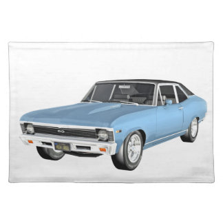 1968 Light Blue Muscle Cars Placemat