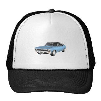 1968 Light Blue Muscle Cars Trucker Hat