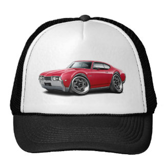 1968 Olds 442 Red Car Trucker Hat