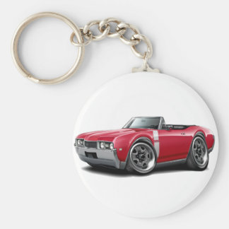 1968 Olds 442 Red-White Convertible Keychain