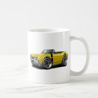 1968 Olds 442 Yellow-Black Convertible Coffee Mug