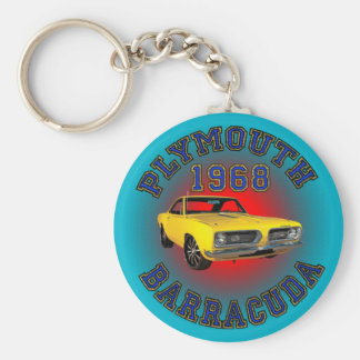 1968 Plymouth Barracuda Keychain. Basic Round Button Keychain