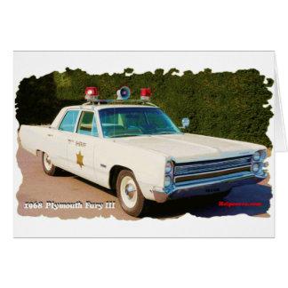 1968 Plymouth Fury III Card