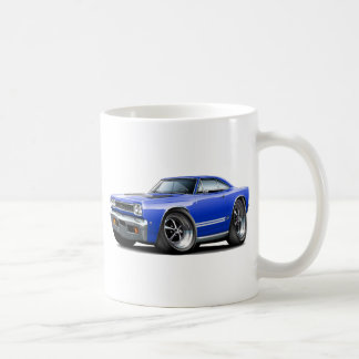 1968 Plymouth GTX Blue-White Car Coffee Mug