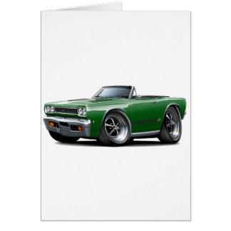 1968 Plymouth GTX Dark Green-Black Convert Card