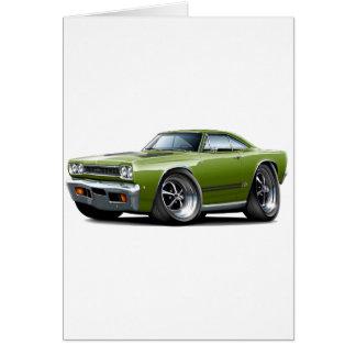 1968 Plymouth GTX Ivy-Black Car Card