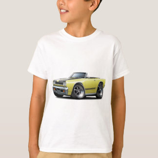 1968 Plymouth GTX Lt Yellow-Black Hood Convert T-Shirt
