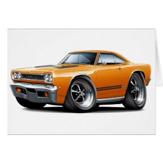 1968 Plymouth GTX Orange-Black Car Card