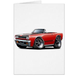 1968 Plymouth GTX Red-Black Hood Convert Card