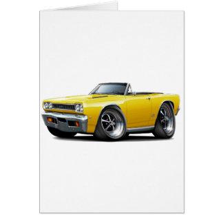 1968 Plymouth GTX Yellow Convert Card