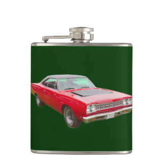 1968 Plymouth Roadrunner Muscle Car Hip Flask