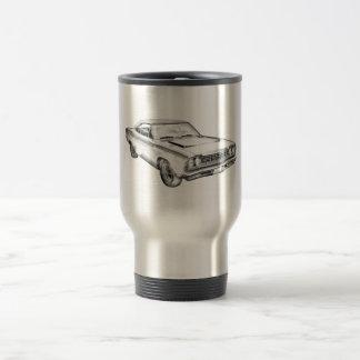 1968 Plymouth Roadrunner Muscle Car Illustration Travel Mug