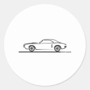 pontiac firebird stickers zazzle ca First Pontiac Trans AM 1968 pontiac firebird classic round sticker