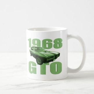 1968 Pontiac GTO Muscle Car Green Coffee Mug