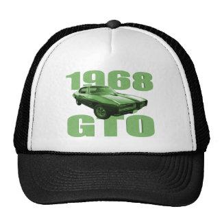 1968 Pontiac GTO Muscle Car Green Trucker Hat