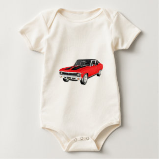 1968 Red Muscle Car Baby Bodysuit