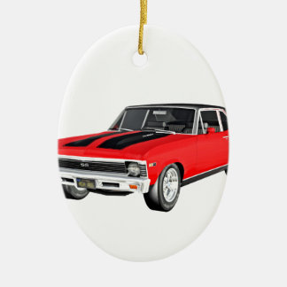 1968 Red Muscle Car Ceramic Ornament