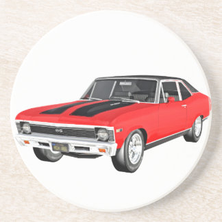 1968 Red Muscle Car Coaster