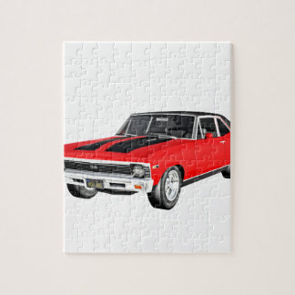 1968 Red Muscle Car Jigsaw Puzzle