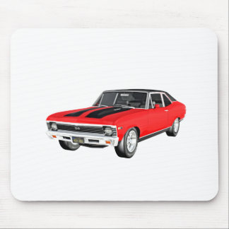 1968 Red Muscle Car Mouse Pad