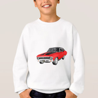1968 Red Muscle Car Sweatshirt